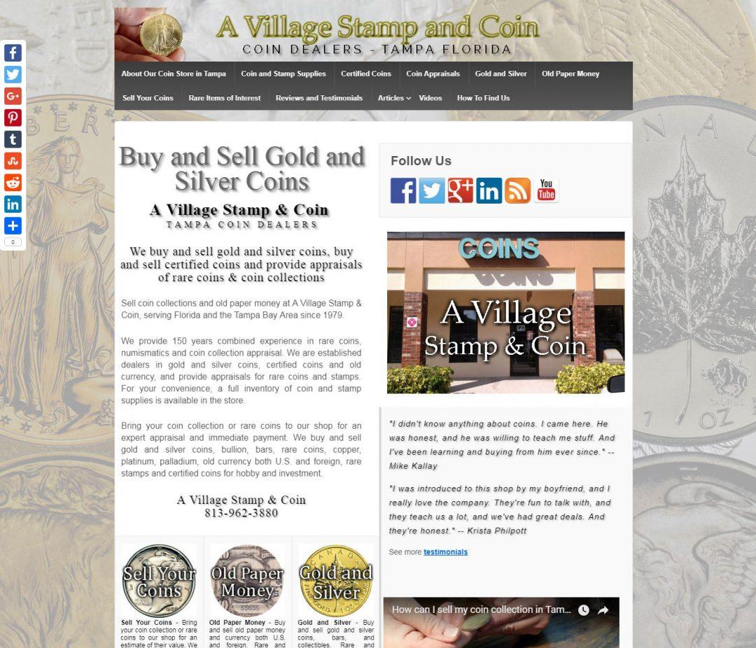 A Village Stamp & Coin