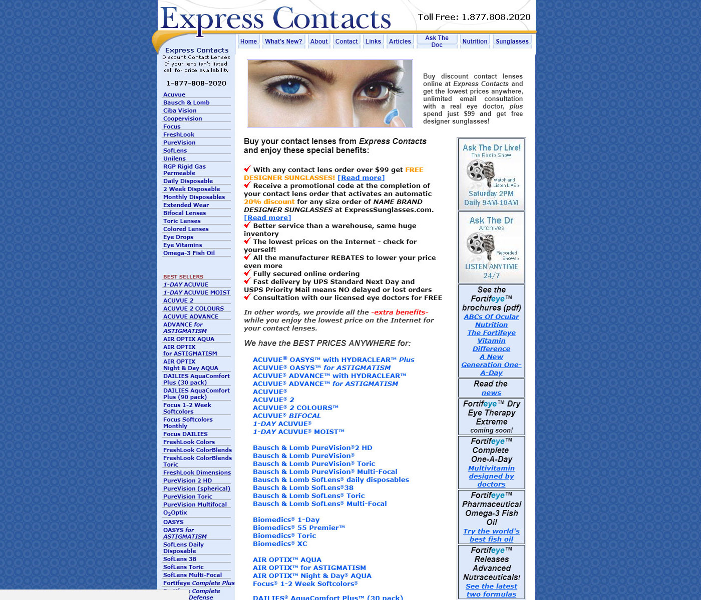 Express Contacts - Gainesville Web Design by Accelerated Global